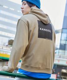 ▽WEB限定 KANGOL/カンゴール 別注ロゴ刺繍 オーバーサイズ プルオーバーパーカーベージュ系その他6