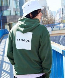 ▽WEB限定 KANGOL/カンゴール 別注ロゴ刺繍 オーバーサイズ プルオーバーパーカーグリーン系その他4