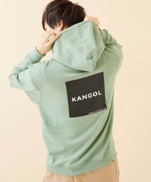 ▽WEB限定 KANGOL/カンゴール 別注ロゴ刺繍 オーバーサイズ プルオーバーパーカーグリーン系その他5
