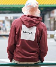 ▽WEB限定 KANGOL/カンゴール 別注ロゴ刺繍 オーバーサイズ プルオーバーパーカーレッド系その他2