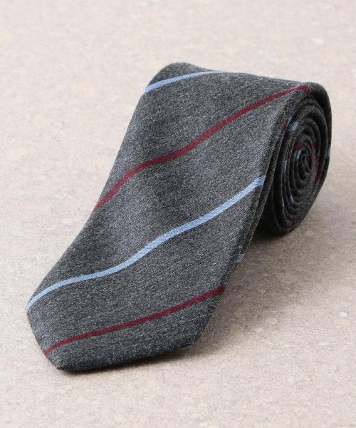 ウール/シルク 8.0 ストライプ1 ネクタイ