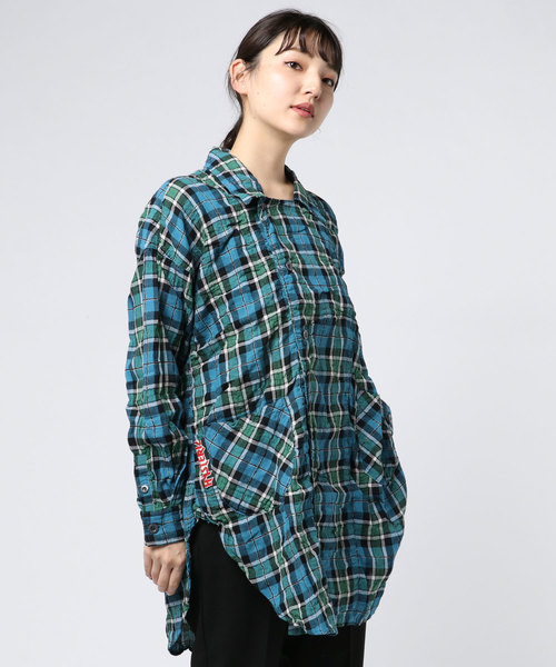 【アウトレット☆送料無料】 長袖オーバーシャツ, シュードリーム 1ddc2f2f