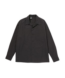 OPEN COLLAR SHIRTブラック