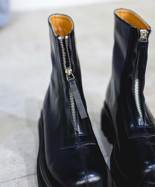 【chuclla】【2021/AW】Front zip short boots chs21a035