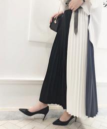 Loungedress(ラウンジドレス)の切替プリーツスカート(スカート)