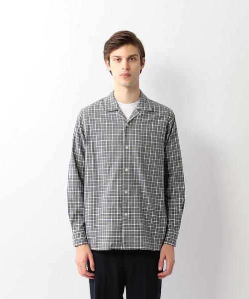 <Steven Alan> SOKTAS CHECK 2P OPEN COLLAR SHIRT-BOLD/シャツ