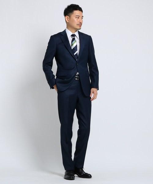シャイニーシャークピンヘッドスーツ Fabric by MIYUKI KEORI【 メンズ スーツ 撥水 結婚式 】
