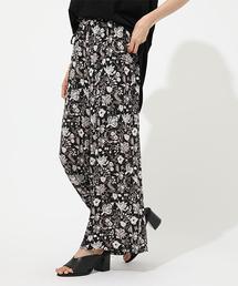 AZUL BY MOUSSY(アズールバイマウジー)のETHNIC FLOWER WIDE PANTS/エスニックフラワーワイドパンツ(パンツ)