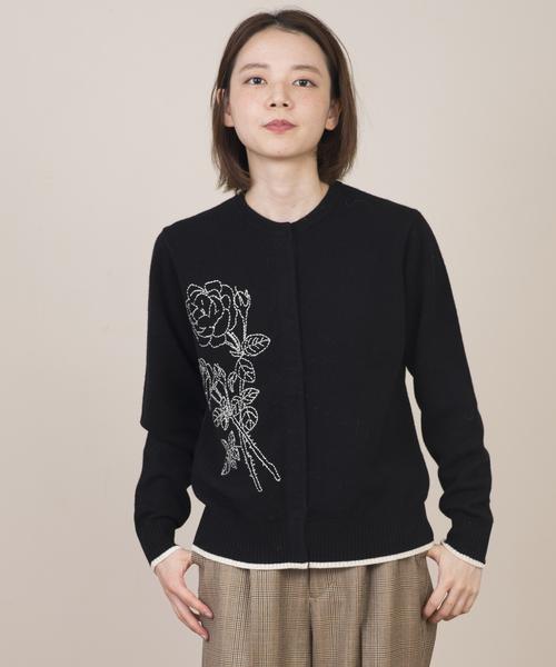 日本人気超絶の ハンドステッチカーディガン(カーディガン)|nesessaire(ネセセア)のファッション通販, EUROMARKET(ユーロマーケット):634bf4db --- kredo24.ru