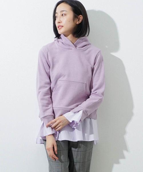 日本人気超絶の 裾&袖口フリルパーカー(パーカー)|HERENCIA(ヘレンチア)のファッション通販, 酒のさとう:95db5ac4 --- kredo24.ru