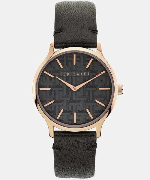 【新品本物】 POPPIEY ブラックレザー 腕時計, 工房八王子ジュールドロワ 49e2fb79