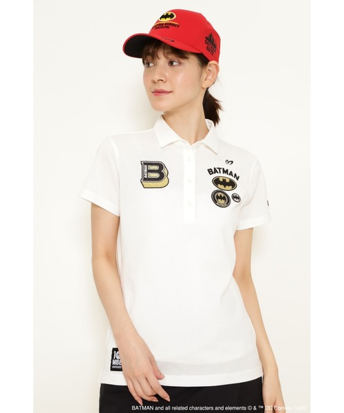MASTER BUNNY EDITION(マスターバニーエディション)の「【MASTER BUNNY EDITION & BATMAN】BATMAN アイスコットン鹿の子 ポロシャツ(ポロシャツ)」|ホワイト