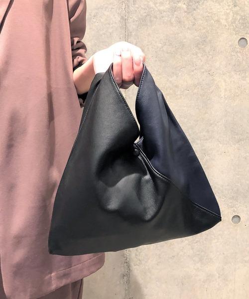 CALDO(カルド)の「CALDO カルド / Triangle Mini Bag トライアングルミニバッグ エコバッグ / 21014(ハンドバッグ)」|ブラック系その他