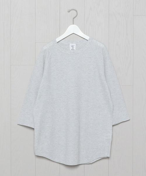 <JE MORGAN>THERMAL 7 SLLEVEPULLOVER/カットソー