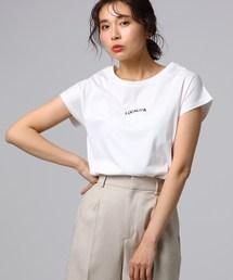 UNTITLED(アンタイトル)のシルケットスムースロゴTシャツ(Tシャツ/カットソー)