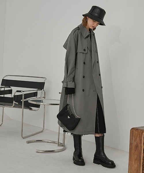 【Fano Studios】Oversized belted trench coat FA20W043