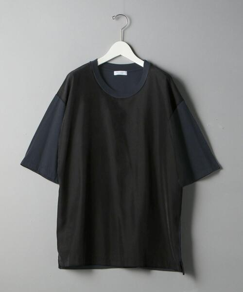BY ポプリン コンビ ワイドフォルム Tシャツ -MADE IN JAPAN-