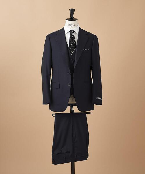 <SOVEREIGN(ソブリン)> サージ 3ボタン 3ピース スーツ