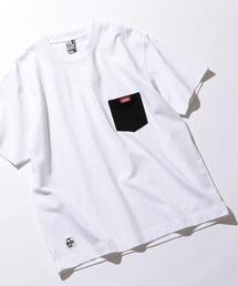 別注 [チャムス] SC CHUMS GLR カラー ポケット Tシャツ