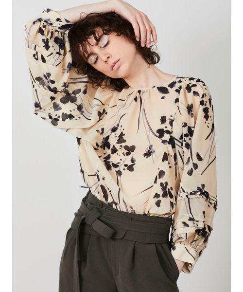 2019新作モデル 【セール】フラワーパフスリーブブラウス(シャツ/ブラウス)|ELENDEEK(エレンディーク)のファッション通販, カメオカシ:c75e6770 --- ulasuga-guggen.de