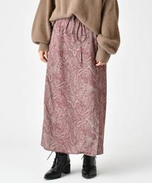 mystic(ミスティック)のペイズリー柄ラップスカート(スカート)