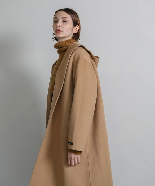 【chuclla】Trapezoid hoodie wool coat sb-2 cb-1 chw1310