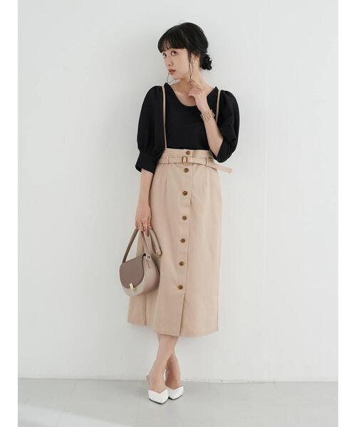 ロングナロースカート×きれいめパンプス靴