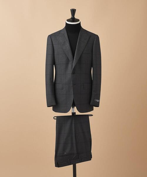 <SOVEREIGN(ソブリン)> グレンプレイド  2ボタン ピークドラペル スーツ