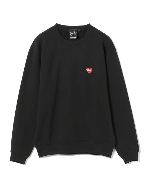 【SPECIAL PRICE】BEAMS T / BLACK HEART × CREEP LOGO Crewneck Sweatshirt