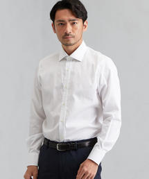 [アルビニ]ALBINI ホワイトドビー ショートワイドカラー シャツ