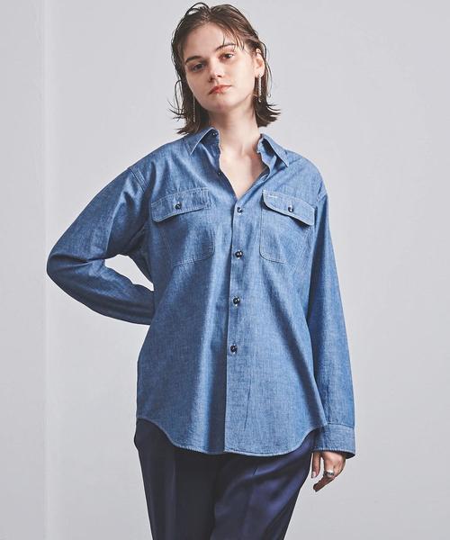 <MADISON BLUE(マディソンブルー)>HAMPTON シャンブレーシャツ 20FW ■■■
