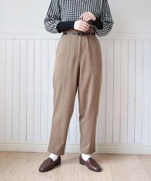 warm color pantsブラウン