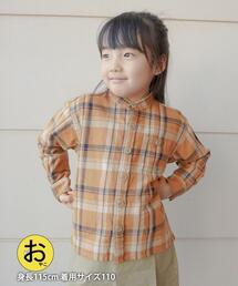 【coen キッズ/ジュニア】ヘビーツイルチェックCPOシャツ