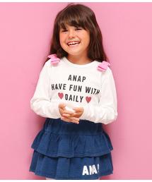 ANAP kids(アナップキッズ)の肩リボンロンT(Tシャツ/カットソー)