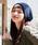IRODORI(イロドリ)の「イロドリ ニットキャップ 裏地ボア ケーブル編みビーニー irodori(ニットキャップ/ビーニー)」|ネイビー