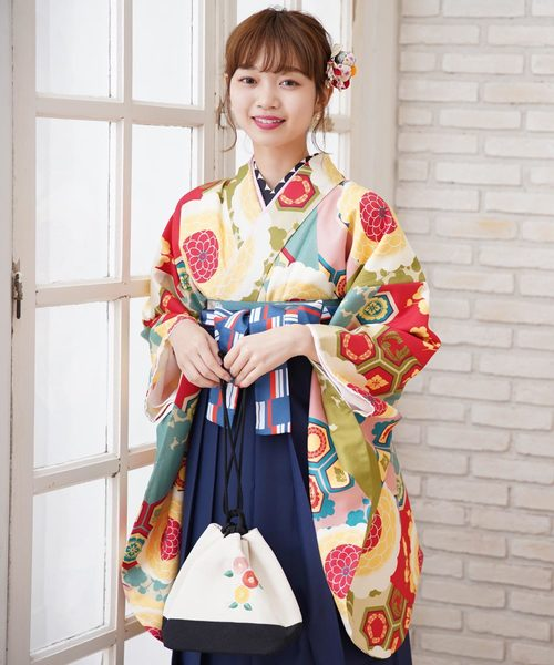 高価値 袴セット 赤と水色の菊亀甲(着物/浴衣) utatane(ウタタネ)のファッション通販, Suitable:76875ab8 --- blog.buypower.ng