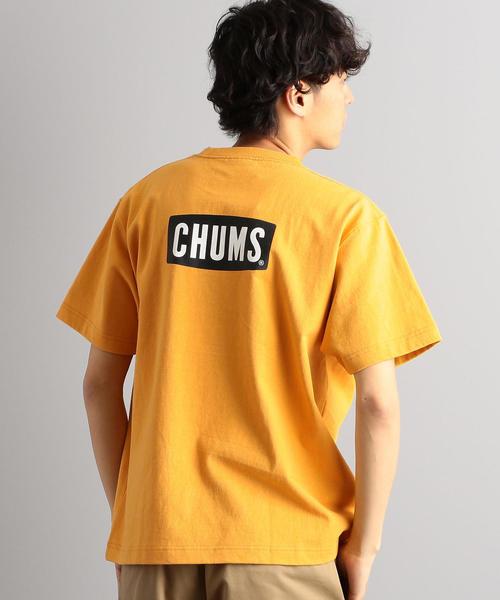 別注 [チャムス]SC CHUMS GLR バックロゴ ポケット Tシャツ