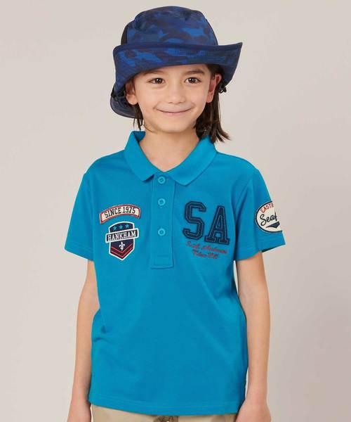 motherways(マザウェイズ)の「[NET限定] ボーイズ 半袖ポロシャツ 全2柄(ポロシャツ)」|ターコイズブルー