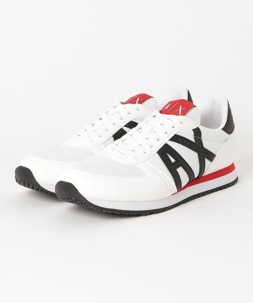 【A|Xアルマーニ エクスチェンジ】AXロゴ レースアップスニーカー