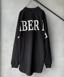 NUMBER (N)INE(ナンバーナイン)の【NUMBER (N)INE】《別注》ビッグシルエット ロゴ バックプリント クルーネック ロングスリーブ Tシャツ(Tシャツ/カットソー)