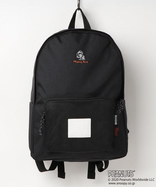 【PEANUTS/ピーナッツ】OUTDOOR PRODUCTS×スヌーピーコラボレーション デイパック バックパック フライングエーススヌーピー刺繍