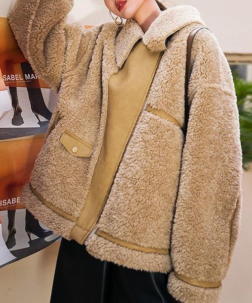 【chuclla】【2021/AW】Oversize boa jacket coat chw21a083