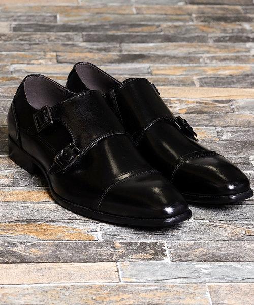 選ぶなら アラウンドザシューズ the/around the shoes バッファローカーフダブルモンクドレスシューズ(黒・ブラウン)(ドレスシューズ)|around the the shoes(アラウンドザシューズ)のファッション通販, 押宗商店:303d9fcb --- 5613dcaibao.eu.org