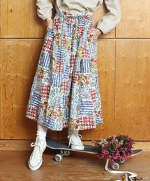 l'atelier du savon(アトリエドサボン)のC/ローンFunkyGraffitiスカート(スカート)