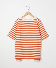 セッケツボーダーボートネックTシャツ