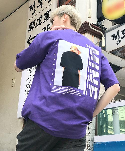 【BASQUE -enthusiastic design-】MINE バックプリントカットソー