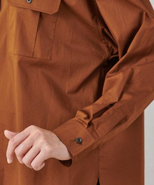 un dix cors(アンディコール)の「コットンツイルオーバーシャツ(シャツ/ブラウス)」 詳細画像