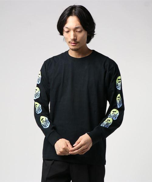 A BATHING APE(アベイシングエイプ)の「GRADATION BAPE FLAME L/S TEE M(Tシャツ/カットソー)」|ブラック
