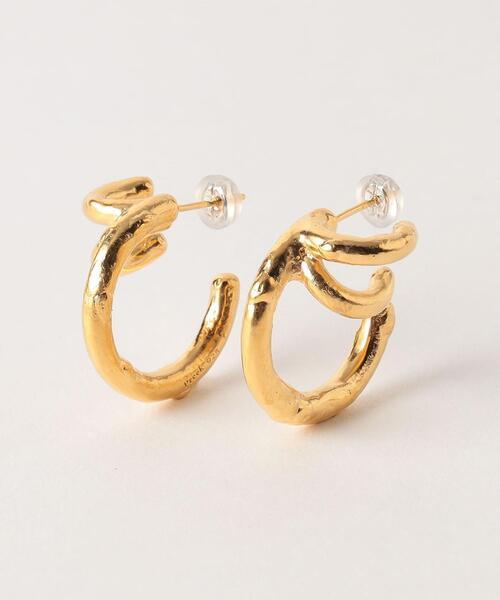 <Preek>YU-KIN TRIPLE EARRINGS GOLD PLATED/ピアス