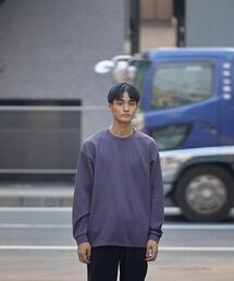 <green label relaxing>ブークレ ダンボール クルーネック 長袖 カットソー